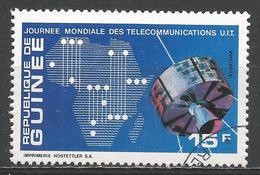 Guinea 1972. Scott #604 (U) Map Of Africa, Syncom Satellite * - Guinée (1958-...)