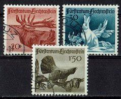 Liechtenstein 1946 // Mi. 249/251 O (033466) Jagd (I) - Liechtenstein
