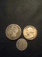 Lot De 3 Monnaies Argent - France