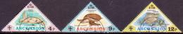 ASCENSION 1973 SG #171-73 Compl.set Used Turtles - Ascension