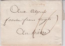 Quintin Cotes Du Nord Cotes D'armor Port Du En ROUGE 1794 Non Reference - Marcophilie (Lettres)