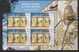 AUSTRALIA , 2018, MNH,PERTH STAMP AND COIN SHOW, ART, SILO ART,   SHEETLET - Art