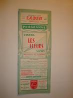 03 Vichy-programme Du Cinéma Les Fleurs  Et Au Lux  Bon état - Programmes