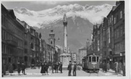 AK 0133  Innsbruck - Maria Theresienstrasse / Strassenbahn 33 Nach Berg Isel Ca. Um 193o - Innsbruck