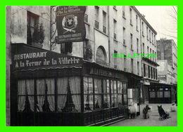 PARIS (75) - RESTAURANT À LA FERME DE LA VILLETTE - ANIMÉE DE CHIENS BERGER ALLEMAND - - Arrondissement: 19