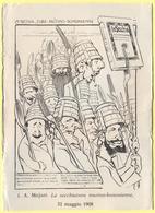 Tematica - Humor - La Secchiatura Mutino-Bononiense - 1908 - I. A. Majani - Cartolina Parlante - Not Used - Humor