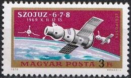 Hungary 1970 - Spaceships Soyouz ( Mi 2575 - YT Pa 326 ) MNH** - Airmail