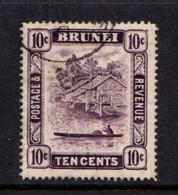 BRUNEI    1947    10c  Violet  Perf  14    USED - Brunei (...-1984)