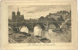 75 CPA Paris Gravure Eau Forte Pont De La Tournelle Notre Dame Pinet Graveur N°24 - Bridges