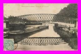 Montceau Le Mines * Passerelle Sur Le Canal    ( Scan Recto Et Verso ) - Montceau Les Mines