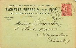 Cpa Commerciale PARIS XI Quincaillerie VACHETTE FRERES 60 Rue De Charonne - Distretto: 11
