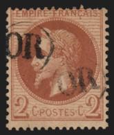 N°26A, Napoléon Lauré, 2c Rouge-brun, Oblitéré Cachet OR - TB - 1863-1870 Napoléon III Lauré