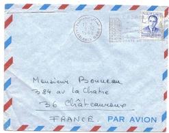 Maroc Morocco Lettre Cover Casablanca Gare OMEC Oblitération Mécanique - Maroc (1956-...)