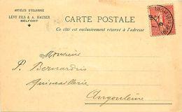 Cpa Commerciale BELFORT 90 Articles D' Eclairage LEVY Fils & A HAUSER - Belfort - Stadt