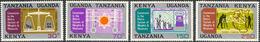 Metric System - East African Community 1971 Michel # 213-216 ** MNH - Kg, C, L, Km - Physics