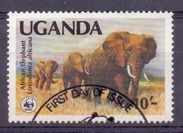 Oeganda - 1983 - Olifant - First Day Of Issue - WWF - Ouganda (1962-...)