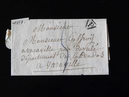 LETTRE DE PARIS POUR VARAVILLE  -  1827  - - 1801-1848: Précurseurs XIX