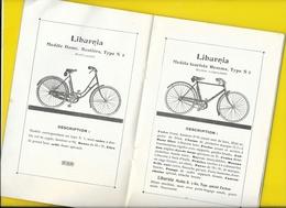 """Catalogue 1932 Cycles """"LIBURNIA"""" Ravat-Wonder Seguin Libourne 8 Pages + Couverture Format 21 X 14 Cm Env.. - Cyclisme"""