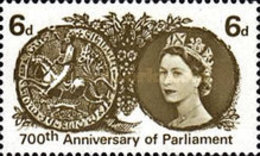 USED  STAMPS Great-Britain - The 700th Anniversary Of The Parliament  - 1965 - 1952-.... (Elizabeth II)