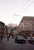 1960 MERCEDES PONTON SIMCA ARONDE SCOOTER SALZBURG AUSTRIA  AMATEUR 35mm DIAPOSITIVE SLIDE Not PHOTO No FOTO B3305 - Diapositives (slides)