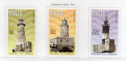 Malta - 2001 - Fari - 3 Valori - Nuovi - Vedi Foto - (FDC13887) - Malte