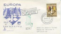 SAN MARINO - FDC CAPITOLIUM 1965 - EUROPA UNITA -SCACCHI - VIAGGIATA - FDC