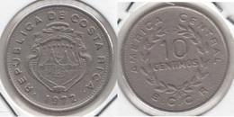 Costa Rica 10 Céntimos 1972 KM#185.3 - Used - Costa Rica