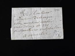 LETTRE DE BUCHY POUR MUNSTER  -  1796  - - Marcophilie (Lettres)