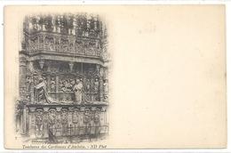 CATHEDRALE DE ROUEN . TOMBEAUX DES CARDINAUX D'AMBOISE . DOS NON DIV NON ECRITE - Rouen