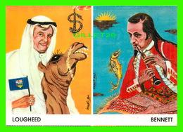 CÉLÉBRITÉS - BENNET, THE WIZARD & LOUGHEED, SHEIK - DESSIN DE HANAFI ABD - DANI SAB, MONTRÉAL, QUÉBEC - - Hommes Politiques & Militaires