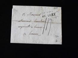 LETTRE DE CANY POUR BEAUNE  -  1779  - - Marcophilie (Lettres)
