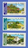 COMORES 101 + 102 + 103 NEUFS ** SITES DE L'ILE MOHELI - Comoro Islands (1950-1975)