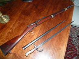 """Fusil Gras """"artillerie Mle 74 """" Non Modifier Avec Sa Baionnette - Armes Neutralisées"""
