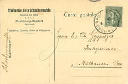 Cpa Commerciale STRASBOURG 67 Marbrerie De La Schachenmuhle - Strasbourg