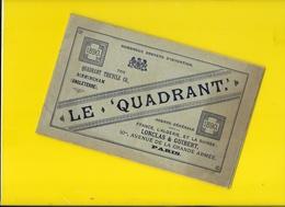 """Catalogue 1890 Cycles """" LE QUADRANT"""" 32 Pages + Couverture Format à L'italienne 21 X 13 Cm Env.. - Cyclisme"""