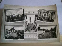 1958 - Siena - Saluti Da Sinalunga - Piazza Garibaldi - Palazzo Pretorio - Piscina - Panorama - Collegiata - Vera Fotogr - Saluti Da.../ Gruss Aus...