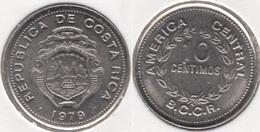 Costa Rica 10 Céntimos 1979 KM#185.2b - Used - Costa Rica