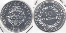 Costa Rica 10 Céntimos 1982 KM#185.2a - Used - Costa Rica