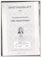 Duitsland 1981, 78 Ersttagsblätter With Doubles Only 5ct Each ( 475 Gram ) - [7] West-Duitsland