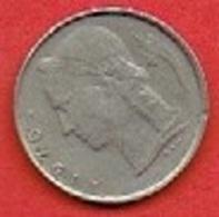 BELGIUM  # 1 FRANC FROM 1975 - 1951-1993: Baudouin I