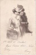 Eau Forte - Jeune Femme Chapeaux Et Sacs - 1902 (lot Pat 38) - Silhouettes