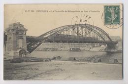 Passerelle Du MÉTROPOLITAIN Au Pont D'Austerlitz - 1911 - Passage Du Métro - Paris 12ème - Métro Parisien, Gares