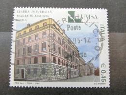 *ITALIA* USATI 2004 - 21^ SCUOLE D'ITALIA LUMSA - SASSONE 2794 - LUSSO/FIOR DI STAMPA - 6. 1946-.. Repubblica