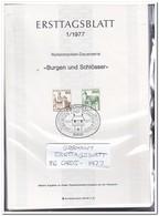 Duitsland 1977, 86 Ersttagsblätter With Doubles Only 5ct Each ( 528 Gram ) - [7] West-Duitsland
