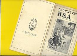 """Catalogue Non Daté Cycles """" B.S.A"""" Birmingham 14 Pages + Couverture Format 22 X 12 Cm Env.. - Cyclisme"""