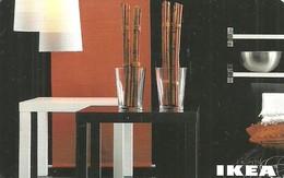 IKEA * FURNITURE STORE * SWEDEN * SWEDISH * LAMP * TABLE * GLASS * BOWL * Ikea 2010 05 Fr E * France - Cartes Cadeaux