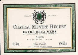 ENTRE-DEUX-MERES CHATEAU MESTRE HUGUET 1996 (4) - Bordeaux