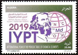 ALGERIA 2019 1v MNH -  International Year Of The Periodic Table Chemistry Mendeleev Chemie Química Chimica - Química