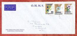Dienstbrief, Luftpost, MiF Pflanzen, Rarotonga Nach Auckland 1975? (68892) - Cook Islands