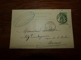 Entier Postal Carte  Cachet  Marcophilie Mons Deux Acren 1902 Herboristes Th Et Ch Desmottes Frères - Publicité